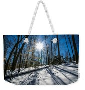Snow Covered Forest Weekender Tote Bag