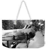Snow Covered History Weekender Tote Bag