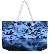 Snow Covered River Rocks Weekender Tote Bag