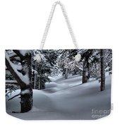 Snow Covered Trail Weekender Tote Bag