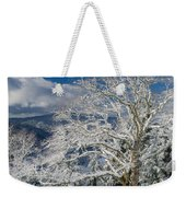 Snow Covered Tree And Winter Scene Weekender Tote Bag