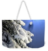 Snow Covered Tree Branches Weekender Tote Bag