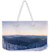 Snow Covered Trees On A Hill, Belchen Weekender Tote Bag
