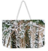Snow Covered Trees Weekender Tote Bag