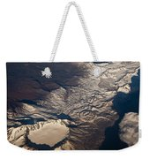 Snow Covered Volcano Showing Caldera Weekender Tote Bag
