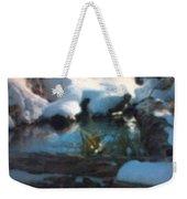 Snow Covered Waterscape Weekender Tote Bag