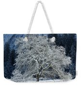 Snow Covered Winter Weekender Tote Bag