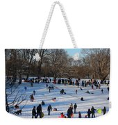 Snow Day - Fun Day At The Park Weekender Tote Bag