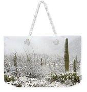 Snow Day In The Desert  Weekender Tote Bag by Saija  Lehtonen