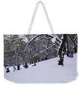 Snow Day In The Park Weekender Tote Bag by Madeline Ellis