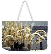 Snow Dust Weekender Tote Bag