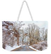 Snow Dusted Colorado Scenic Drive Weekender Tote Bag