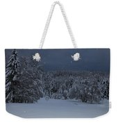 Snow Falling In A Forest Weekender Tote Bag