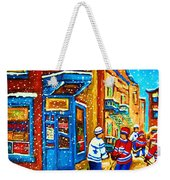 Snow Falling On The Game Weekender Tote Bag