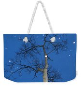 Snow Falling Where The Leaves Used To Be  Ethe  Weekender Tote Bag