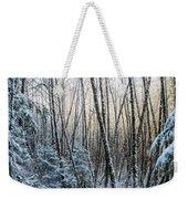 Snow Falls On The Alders  Astoria Weekender Tote Bag