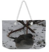 Snow Finch Weekender Tote Bag