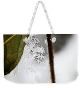 Snow Flakes Weekender Tote Bag