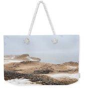 Snow Fog At Whitefish Point Weekender Tote Bag