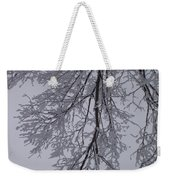 Snow Frosted Branches Weekender Tote Bag