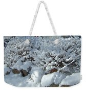 Snow Frosted Bush Weekender Tote Bag