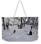 Snow Fun Weekender Tote Bag