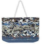Snow Geese Weekender Tote Bag