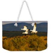 Snow Geese Flying In Fall Weekender Tote Bag