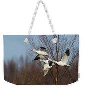 Snow Geese In Flight Weekender Tote Bag