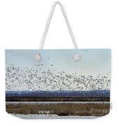 Snow Geese Taking Off At  Loess Bluffs National Wildlife Refuge Weekender Tote Bag