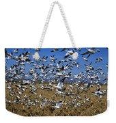 Snow Goose Flock Taking Off Weekender Tote Bag