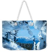 Snow Heart Weekender Tote Bag