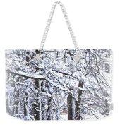 Snow-img-2174-merry Christmas Weekender Tote Bag
