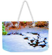 Snow In Color Weekender Tote Bag
