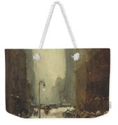 Snow In New York Weekender Tote Bag