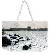 Snow In Surrey England Weekender Tote Bag