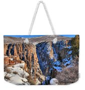 Snow In The Black Canyon Weekender Tote Bag