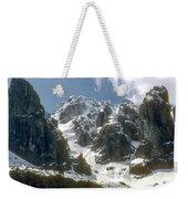Snow In The Dolomites Weekender Tote Bag