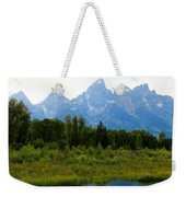 Snow In The Mountains Weekender Tote Bag