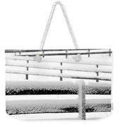 Snow In The Pasture Weekender Tote Bag