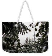 Snow In Trees At Narada Falls II Weekender Tote Bag
