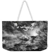 Snow Is In The Air Bw Weekender Tote Bag