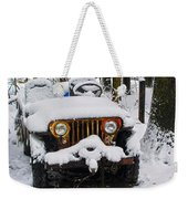 Snow Jeep Weekender Tote Bag