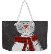 Snow Kitten Weekender Tote Bag