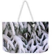 Snow Laden Branches Weekender Tote Bag
