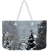 Snow Landscape Weekender Tote Bag