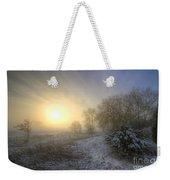 Snow Landscape Sunrise Weekender Tote Bag