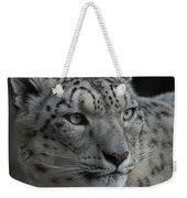 Snow Leopard 15 Weekender Tote Bag