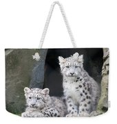 Snow Leopard Cubs Weekender Tote Bag