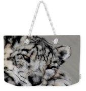 Snow Leopard Digital Art Weekender Tote Bag
